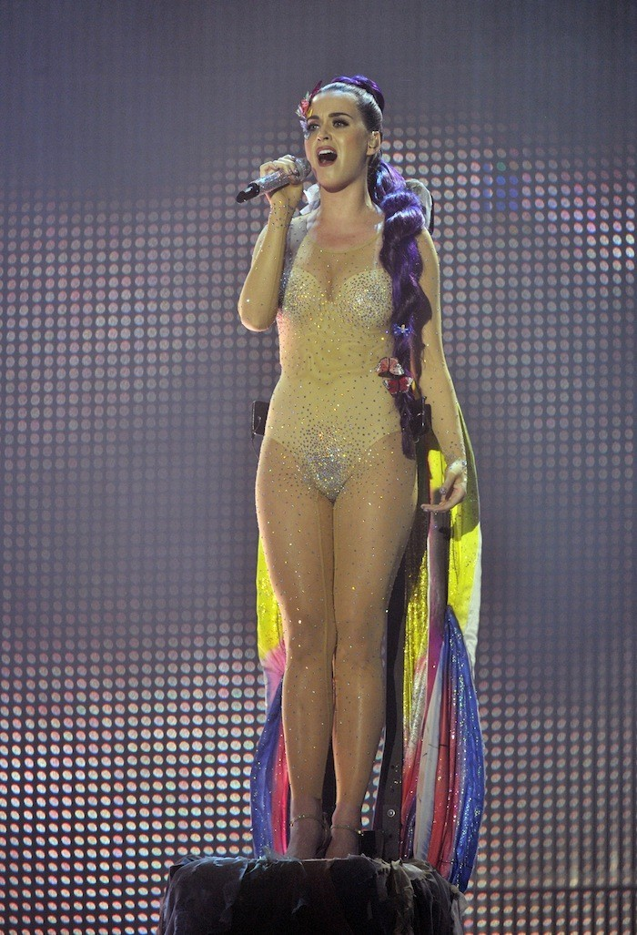 Singer Katy Perry performs during the MuchMusic Video Awards in Toronto, June 17, 2012.