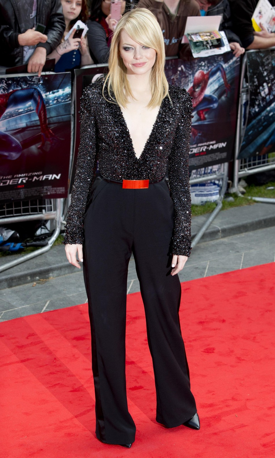 U.S. actress Stone arrives for the British premiere of quotThe Amazing Spider-Manquot at Leicester Square in London