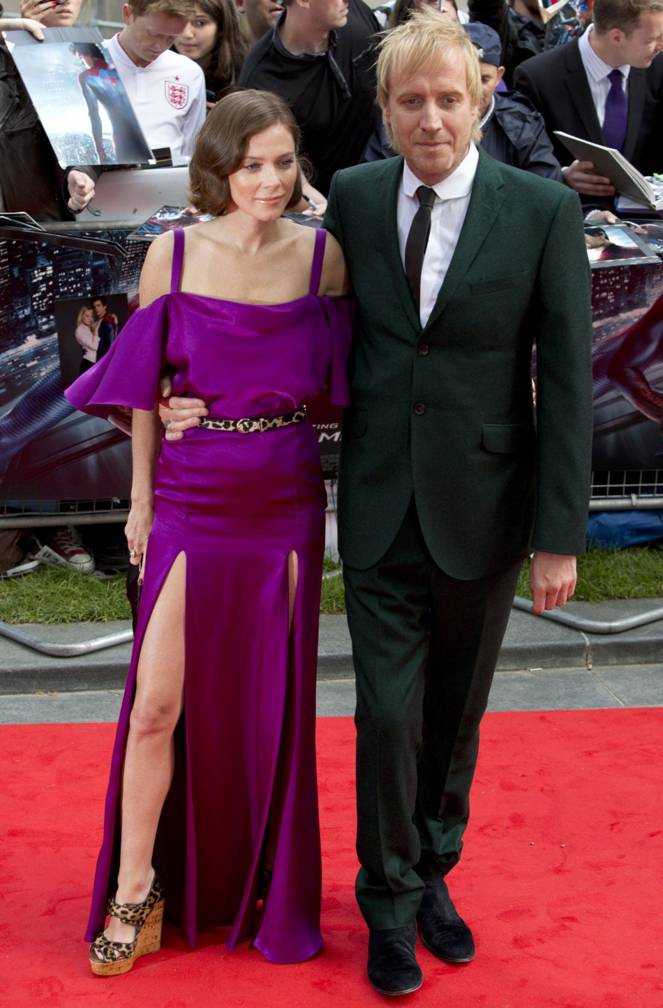 Welsh actor Ifans and English actress Friel arrive for the British premiere of quotThe Amazing Spider-Manquot at Leicester Square in London