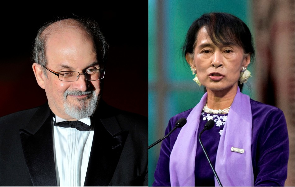 Salman Rushdie and Aung San Suu Kyi