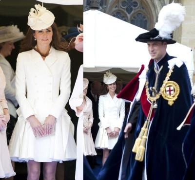 Kate Middleton Attends Order of the Garter
