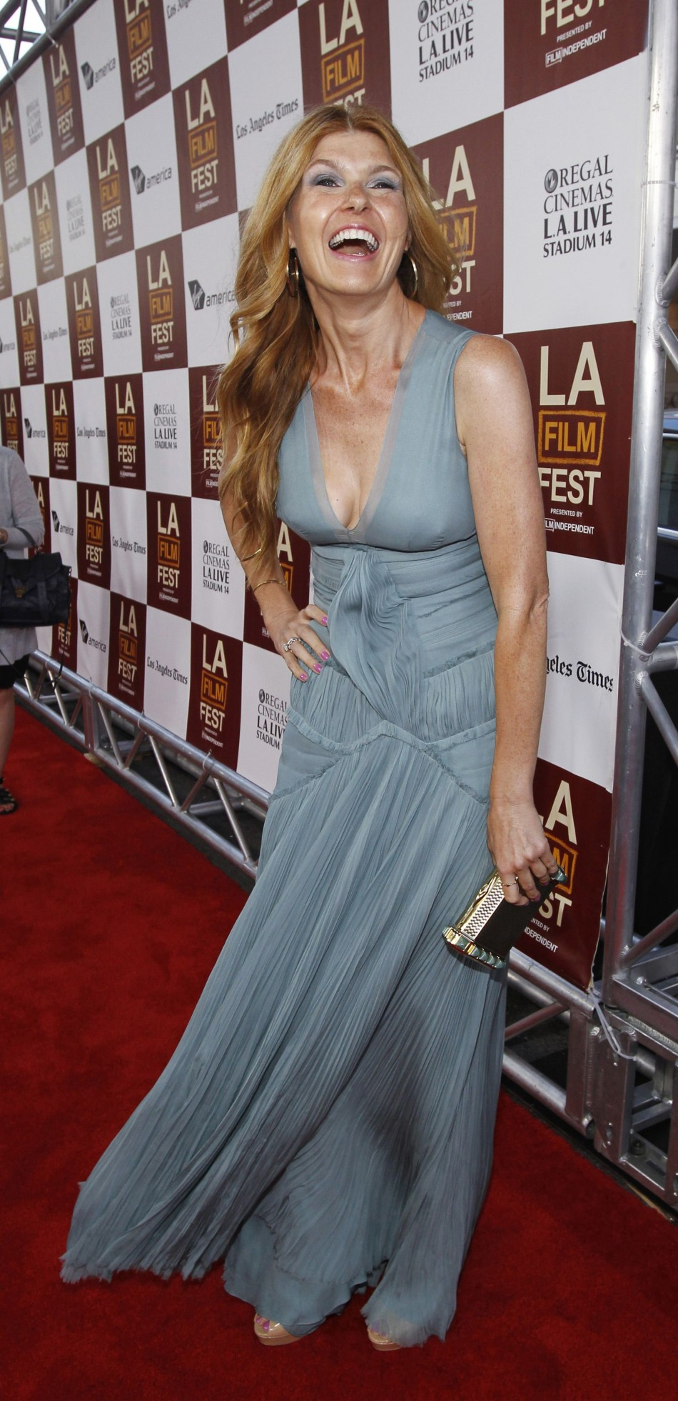 Britton poses at the premiere of quotSeeking a Friend for the End of the Worldquot during the Los Angeles Film Festival in Los Angeles