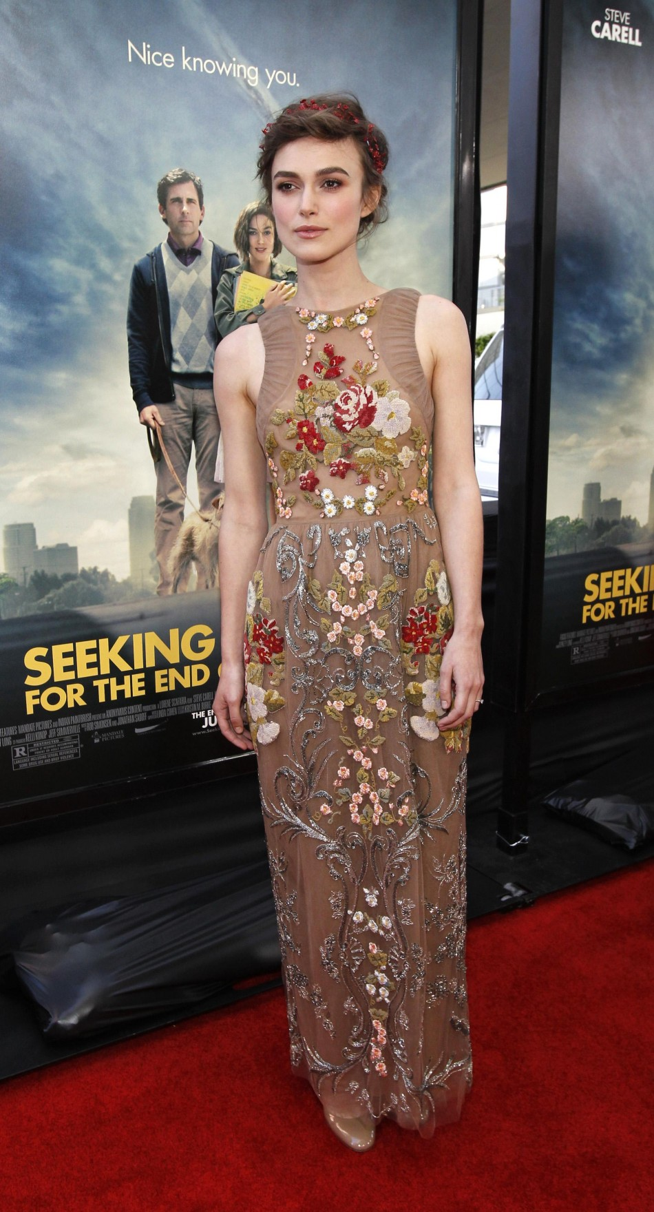 Knightley poses at the premiere of quotSeeking a Friend for the End of the Worldquot during the Los Angeles Film Festival in Los Angeles