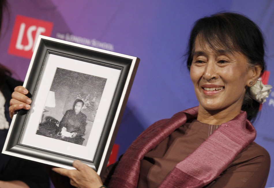 Nobel Prize laureate Aung San Suu Kyi