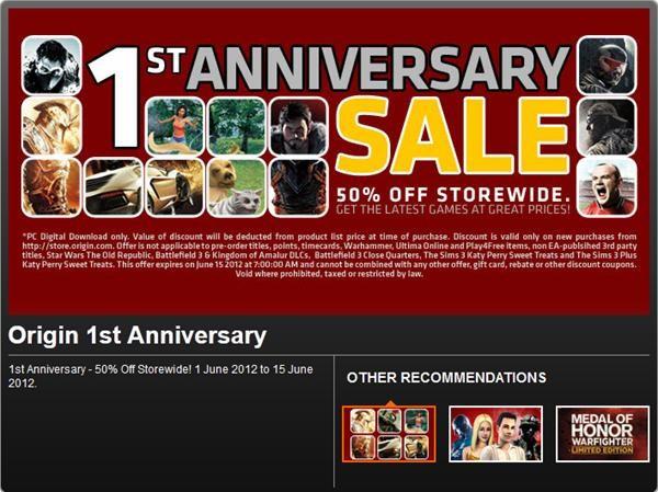 EA Origin Sale