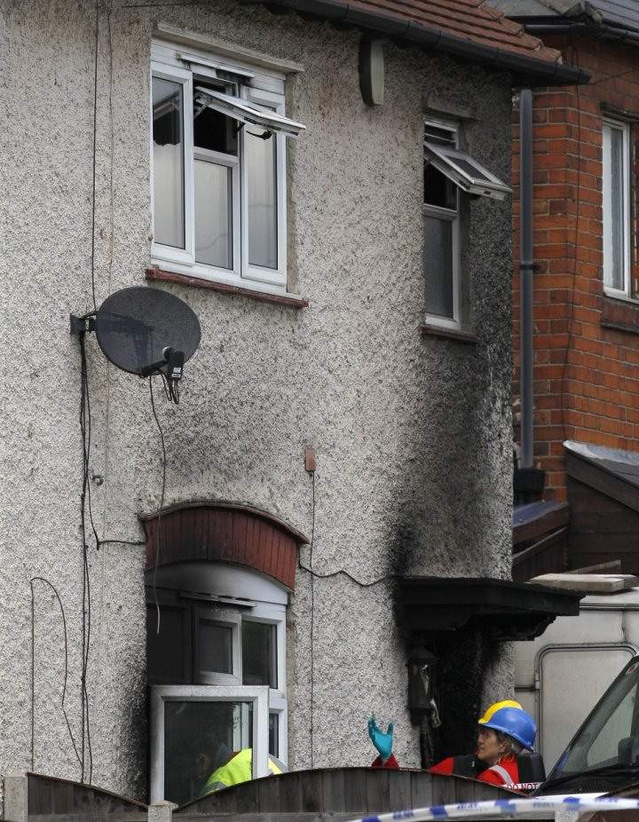 The fire killed six children at a home in Victory Road, Allenton, Derby (Reuters)