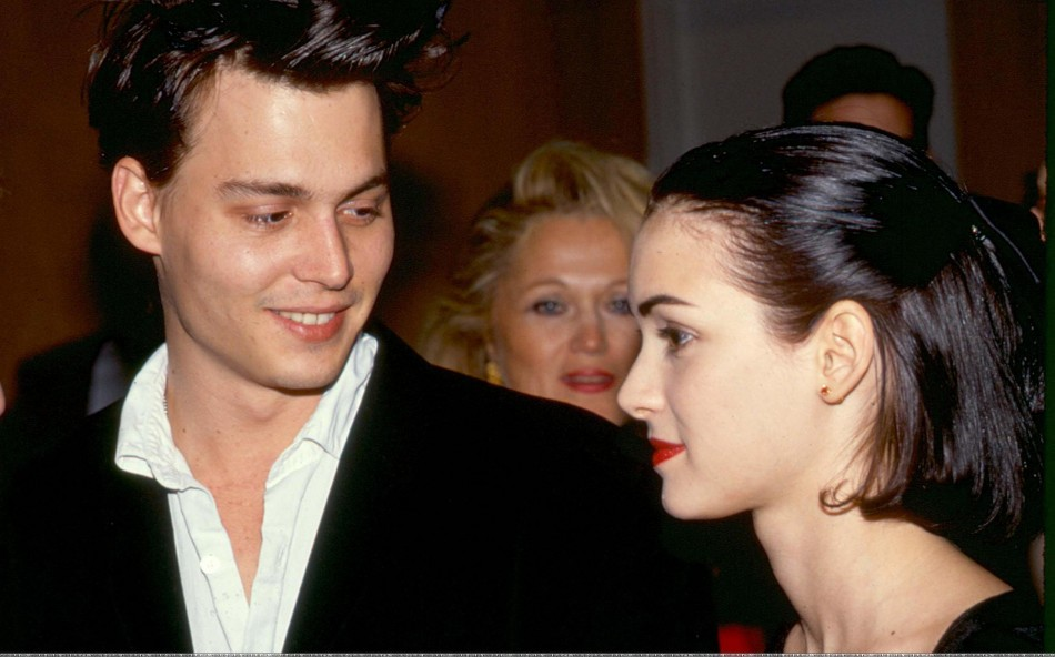Johnny Depp and Winona Ryder.