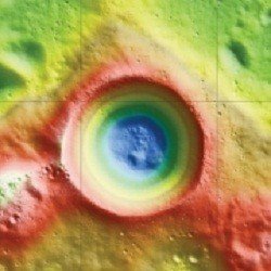 Topography of Shackleton  crater