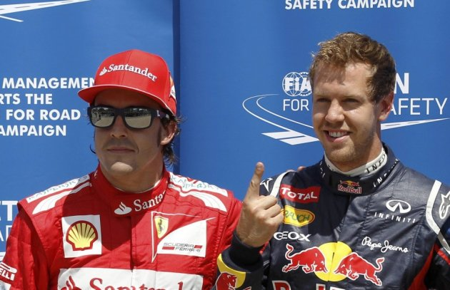 Fernando Alonso and Sebastian Vettel