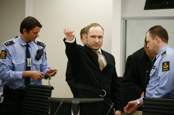 Breivik has repeatedly given far-right salute throughout trial