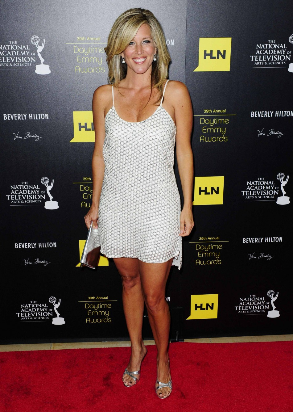 Actress Laura Wright arrives at the 39th Daytime Emmy Awards in Beverly Hills