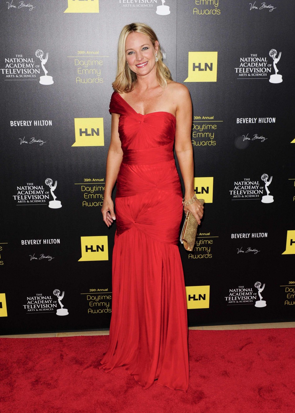 Sharon Case arrives at the 39th Daytime Emmy Awards in Beverly Hills