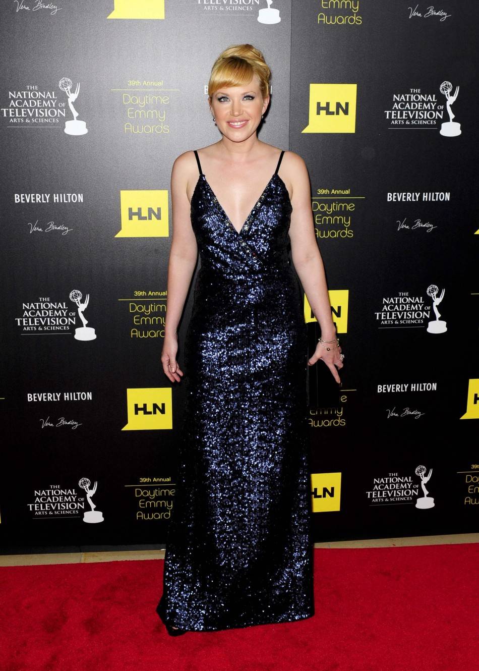 Adrienne Frantz arrives at the 39th Daytime Emmy Awards in Beverly Hills
