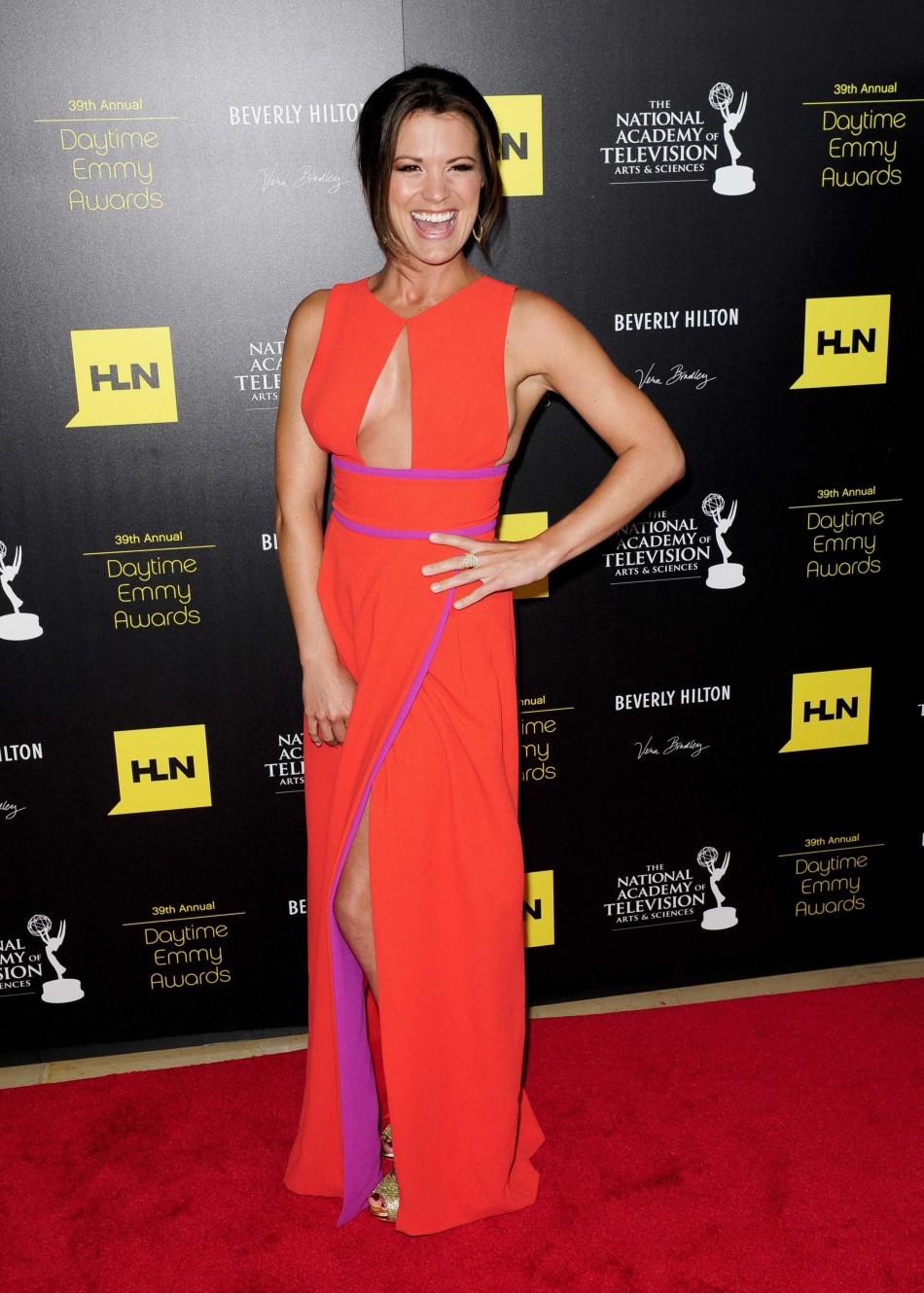 Melissa Claire Egan arrives at the 39th Daytime Emmy Awards in Beverly Hills