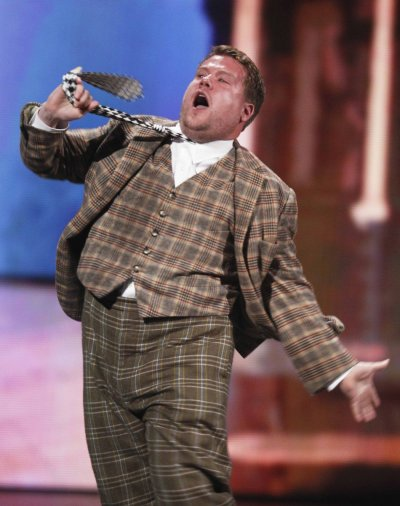 James Corden performs from quotOne Man, Two Guvnorsquot during the American Theatre Wings 66th annual Tony Awards in New York