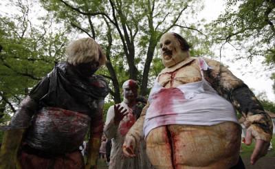 Zombie dressed