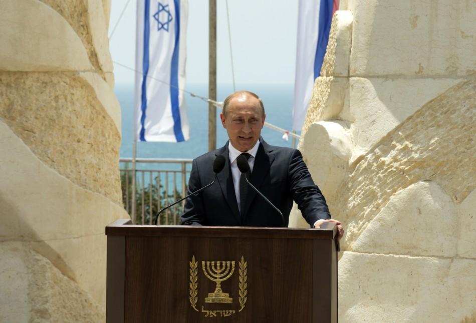 Russian president Vladimir Putin is visiting Israel