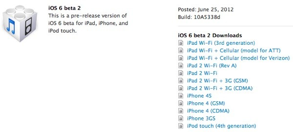 iOS 6 Beta 2 Pushed Out To Developers