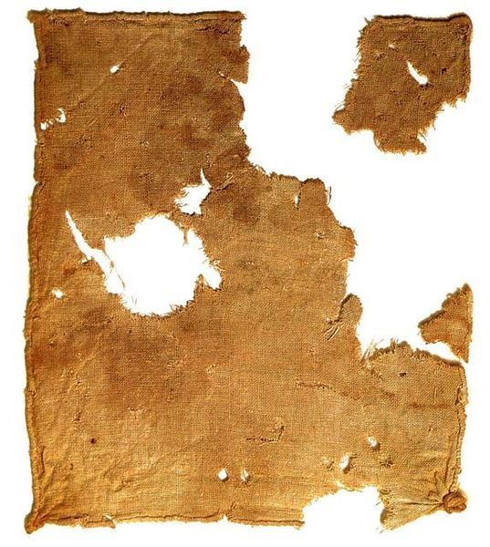 Linen cloth recovered from Qumran Cave 1 near the Dead Sea