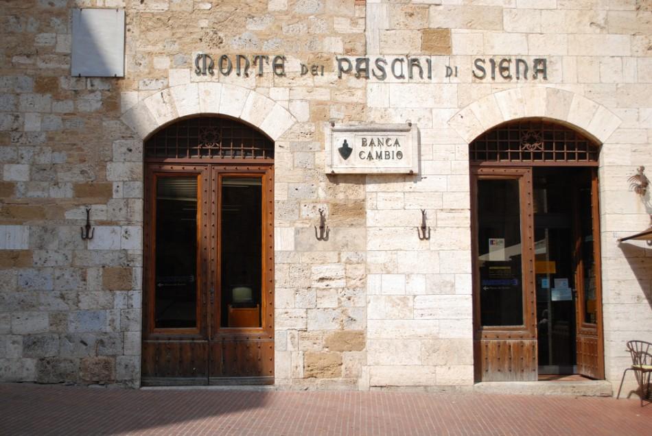 A Tuscan branch of Banca Monte dei Paschi di Siena SpA
