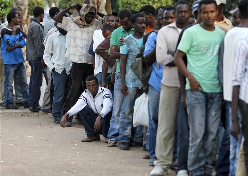 African men looking for work