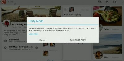 google events party mode