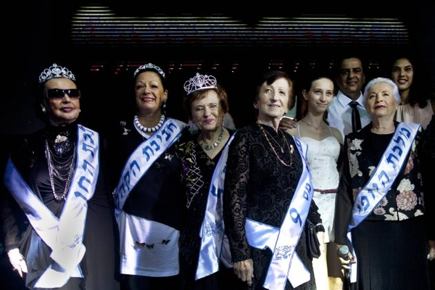 Contestants in Israel's first Miss Holocaust Survivor beauty pageant, who ranged in age from 74 to 97