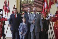 Nikolai Lukashenko, Venezuela leader Hugo Chavez and Belarus President Alexander Lukashenko, in Caracas