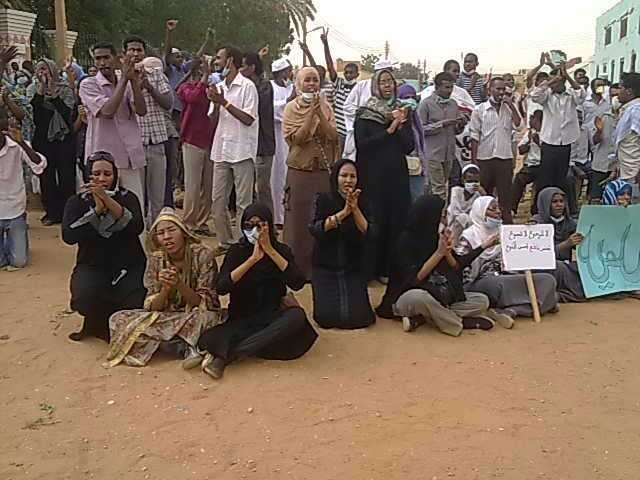 Protesters say they want a democratically elected government in Sudan.