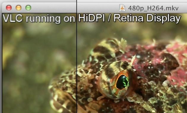 VLC 2.0.2 Supports Retina Display MacBook Pro