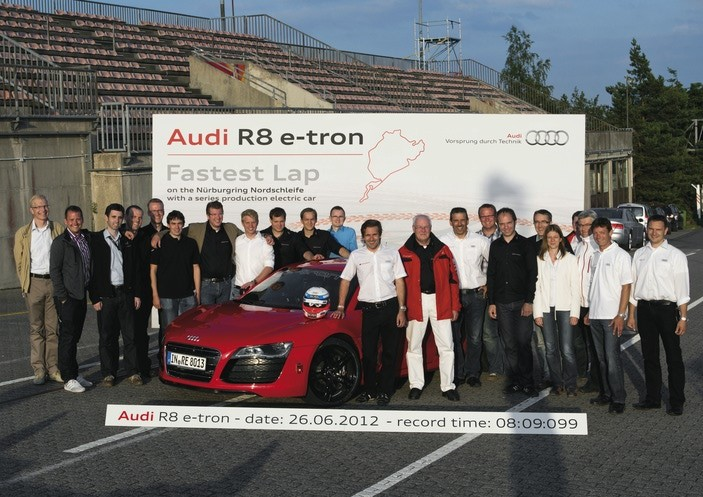 World Record Set by Audi R8 e-tron at the Nürburgring Track