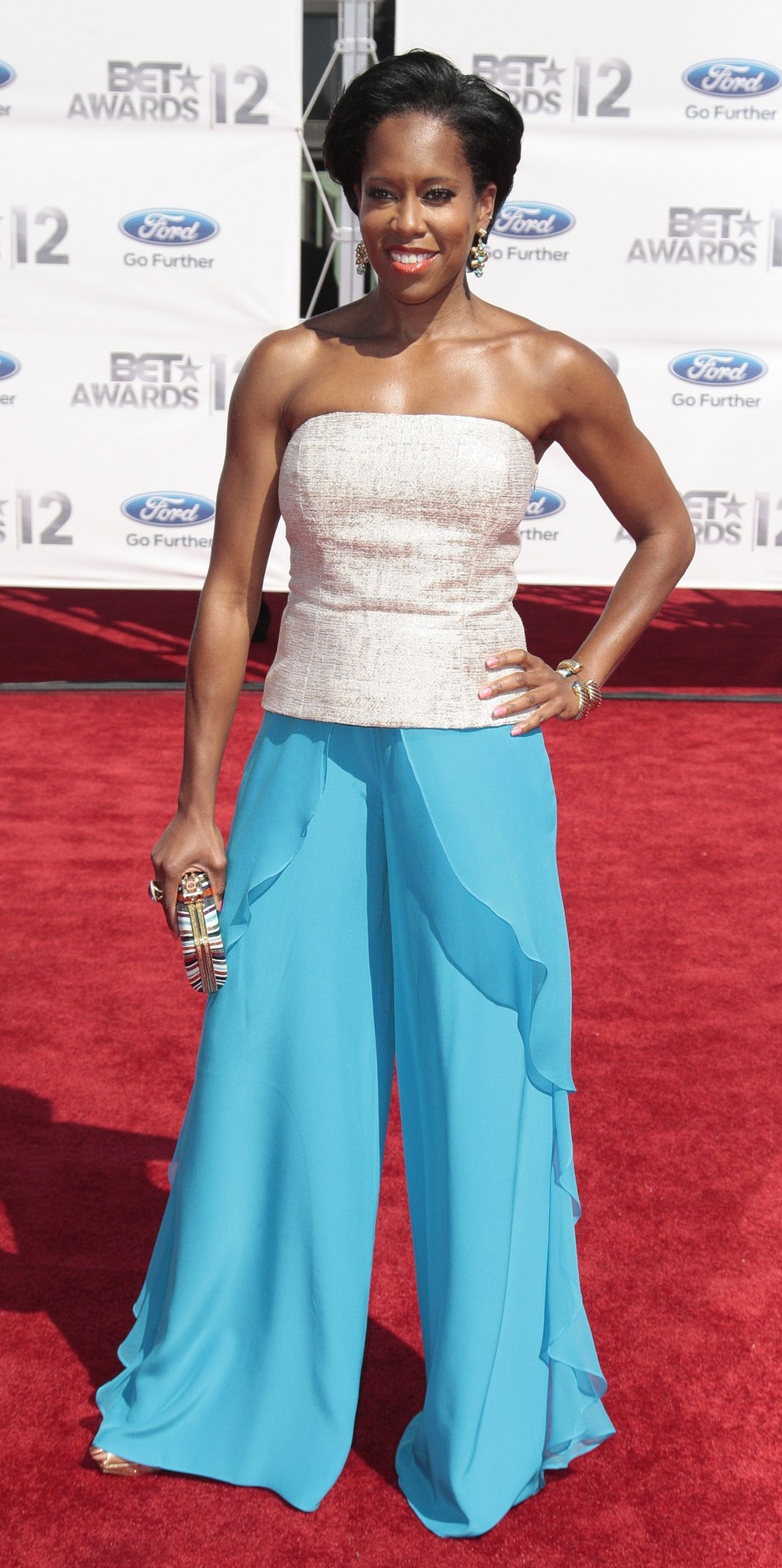 Regina King poses at the 2012 BET Awards in Los Angeles