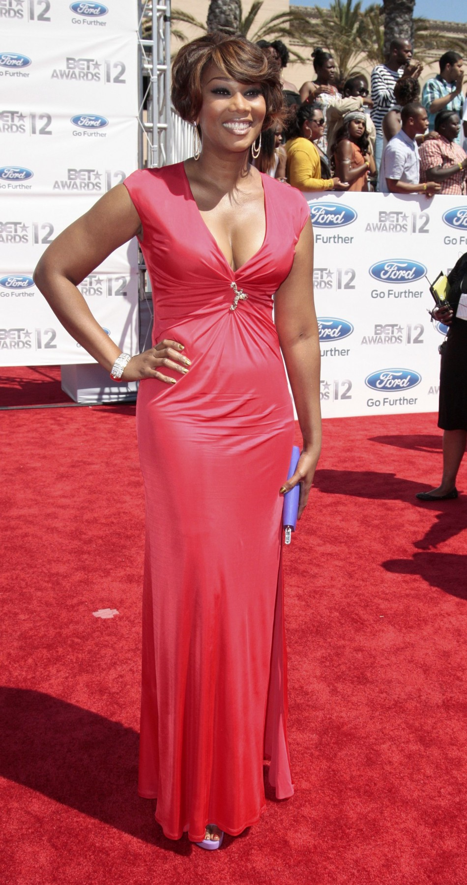 Singer Yolanda Adams arrives at the 2012 BET Awards in Los Angeles