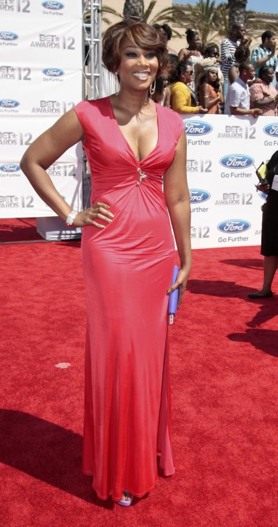 Singer Yolanda Adams arrives at the 2012 BET Awards in Los Angeles