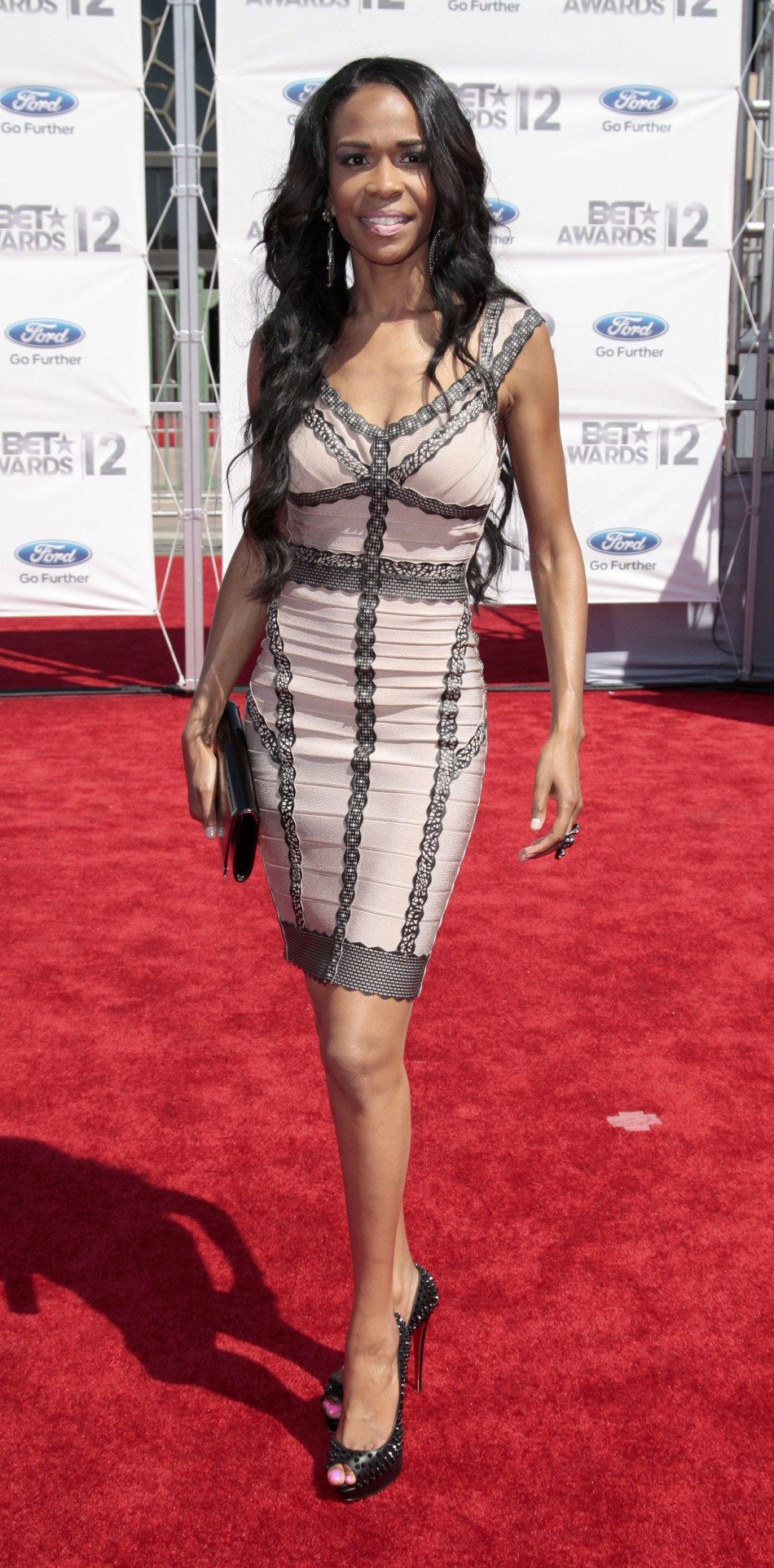 Singer Michelle Williams arrives at the 2012 BET Awards in Los Angeles