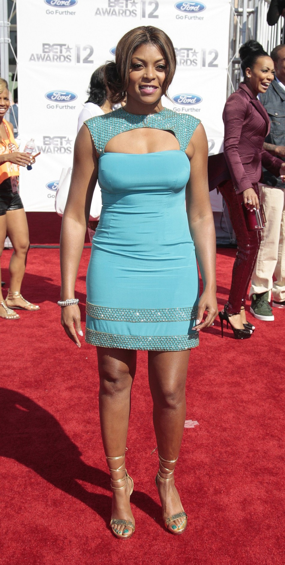 Taraji P. Henson poses at the 2012 BET Awards in Los Angeles