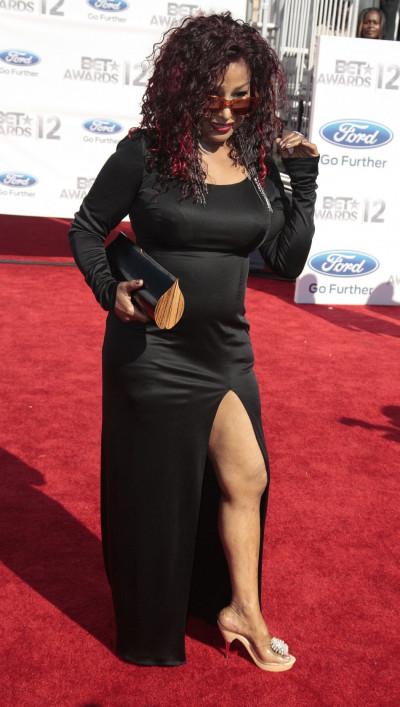 Chaka Kahn poses at the 2012 BET Awards in Los Angeles