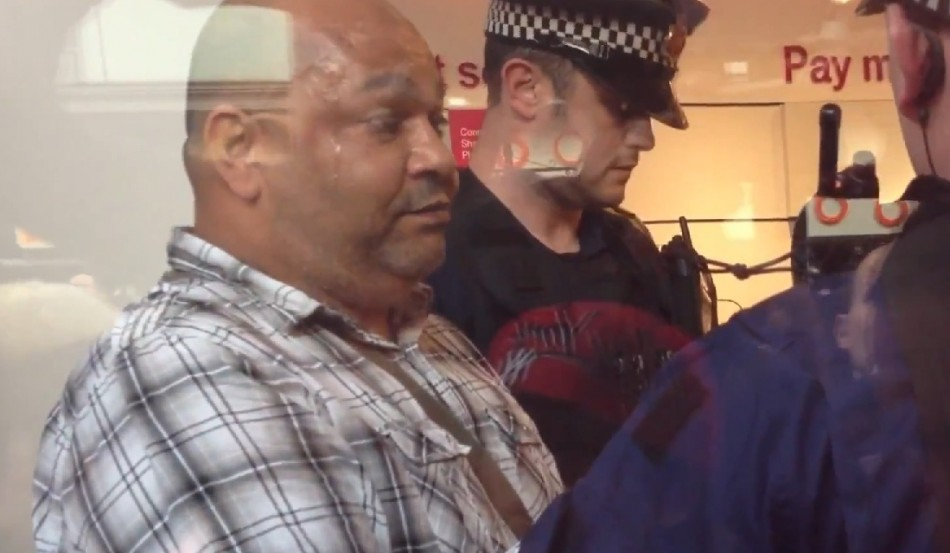 Jason Codner was has been charged after destroying a T-Mobile store in Manchester (YouTube)