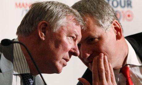 Sir Alex Ferguson and David Gill
