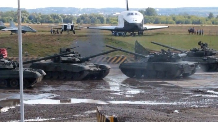 Russian tank ballet choreographed by Bolshoi Theatre director Andrey Melanyin
