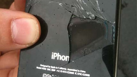 iPhone 4 on fire