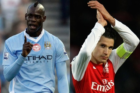Mario Balotelli and Robin van Persie