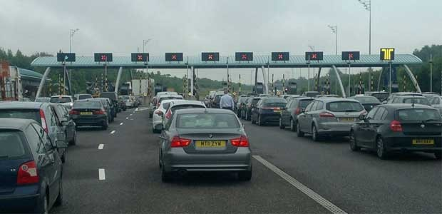 Traffic jam after armed police closed M6 Toll motorway (Birmingham Mail)