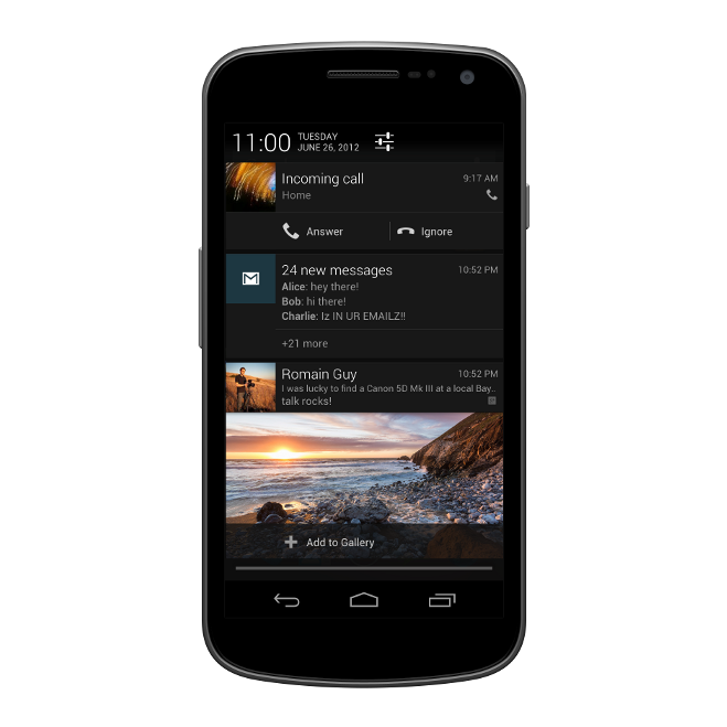 Jelly Bean Notifications