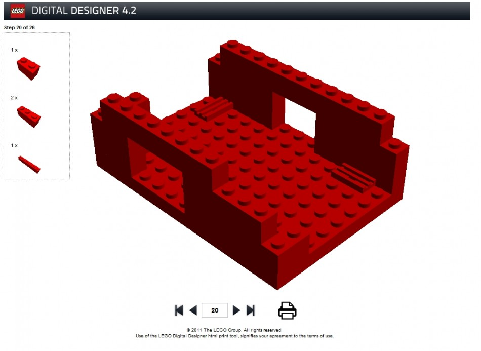 Buy Raspberry Pi Lego Case Biz Daily Brick kit online instructions