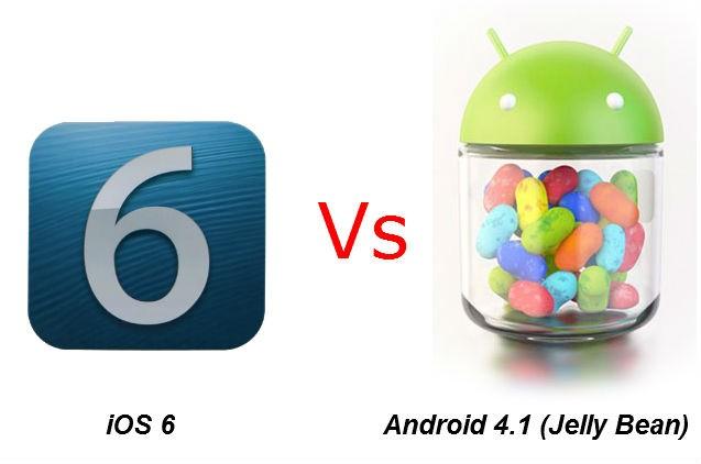 iOs 6 vs Android 4.1 Jelly Bean