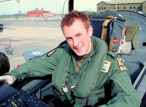 Flt Lt Adam Sanders is also feared to have died in the incident (MoD)