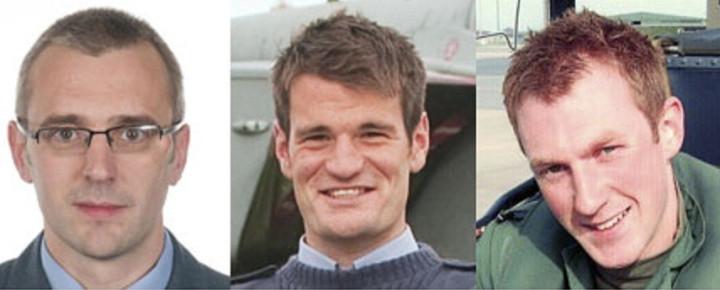 Sqn Ldr Samuel Bailey, Flt Lt Hywel Poole, Flt Lt Adam Sanders
