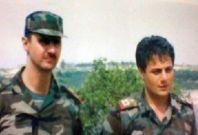 Gen. Manaf Tlas with Syrian President Bashar al-Assad
