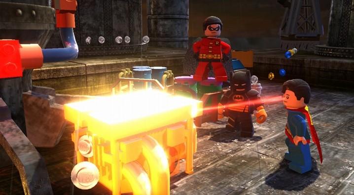 Lego Batman 2 DC Superheroes Review superman laser eyes